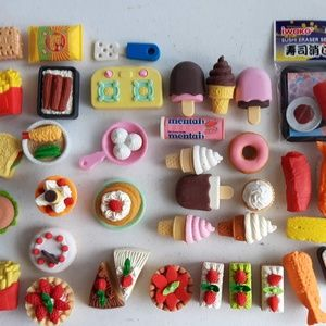 Food Eraser Toy Bundle